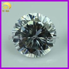 wholesale white round cubic zirconia gemstone