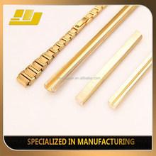 Shining Golden Custom Made Brass Extrusion Profile Pocket Chain Design Watch