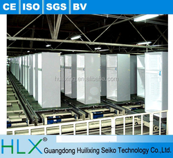 High performance competitive bottom mount refrigerator assembly line