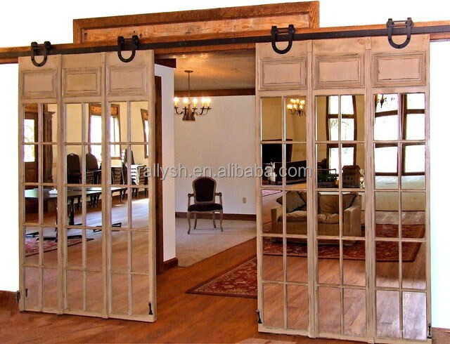 2015 Inteior Exterior Sliding Wood Barn Doors System Partition Door