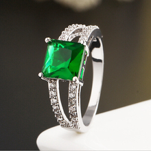 New popular items zircon crystal gold plated emerald gemstone man rings