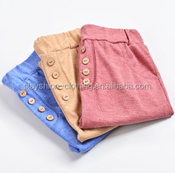 Vintage buttons colored cotton panties Boys and girls haroun pants baby shorts