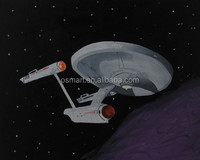 Imaginative Artists Hand Painted Outer Space Oil Painting on Canvas for kids rooms paintings made in china top selling products