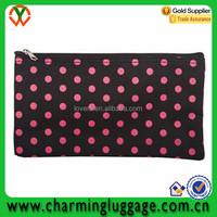 Black and Pink Polka Dots multipurpose travel toiletry bag