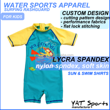 one piece design skins and rashguard Surfing suit Custom printed Kids rash guard
