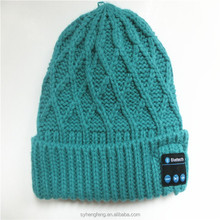 Free hands Knitted Bluetooth Beanie Hat Headphone smart cap