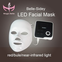 3 Color Blue/ Red/ Purple Professional LED Facial Mask/ LED Mask for Skin Care and Acne Treatment