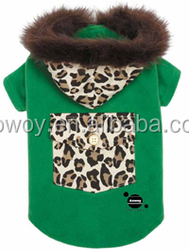 Best selling custom logo green luxe leopard dog coat clothes pets product12