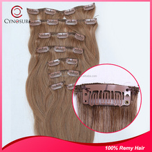 cheap 100% human hair, natural color virgin brazilian clip in hair , wholesale virgin remy hair extension
