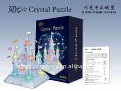 Flash diy 3d crystal puzzle - crystal castle with music BK44589020A