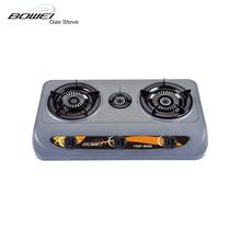Aço inoxidável 3 queimadores incorporado Table top fogão a gás BW-3020