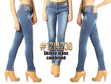 Mujer Skinny jeans combinados
