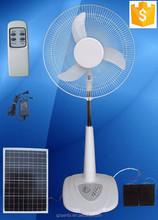 DC 12V solar 16 inch motorhome pedestal designer table fans