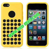 Round Hole Offical Style TPU Case for iPhone 5C