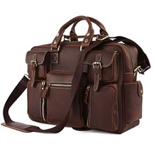 High Quality Drop Shipping Top Grade Multifunctional Vintage Crazy Horse Leather Cool Messenger Bag For Men #7028R-1