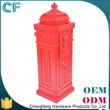 Competitive Price Red Cast Aluminiun Outdoor Letterbox