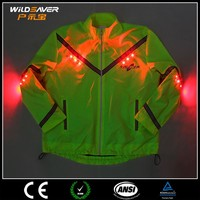 Hi Vis reflective LED motorcycle jacket men