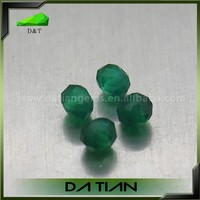 Natural Alibaba green loose round blood agate stone natural stone