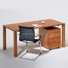 Cheap Laminate Office Writing Desks Light Color MFC Home Study Room Desk Veneer Tables