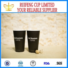 Black Reusable Paper Coffee Cup