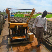 egg laying block making machine / QMR4-45 mobile cement concrete brick block making machine in ghana