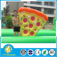 Customized fun inflatable pool pizza raft pizza float raft