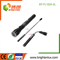 Ningbo Manufacturer Metal Flexible Gooseneck Pick-up telescoping magnet led flashlight