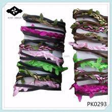 PK0293 Girls Fake Leave Wrapped handmade leather bracelet ideas