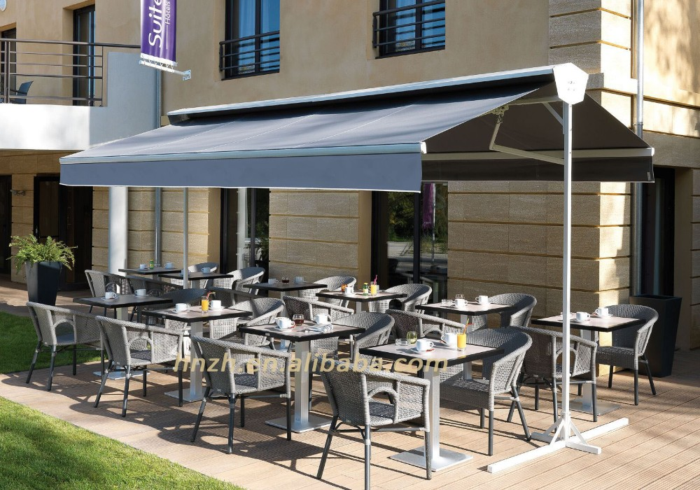 Folding Arms Double Slope Awning