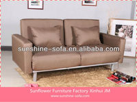 Modern Metal Double Fabric Arms Sofa Bed