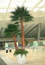 2014 de alta calidad de hojas de palmera artificial