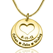 Yiwu Aceon Stainless Steel Gold Plated Heart Charm Disc charms and pendants