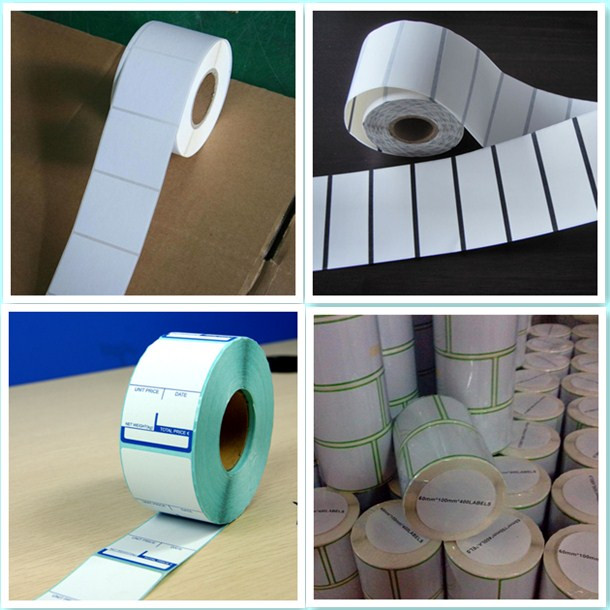 12*17 White Plastic Core Thermal Paper Cash Register Paper