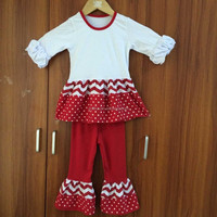 Long sleeve children's clothes cater's clothing chevron baby clothes