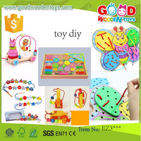EN71 good quality wooden beads toys OEM/ODM wholesale colorful educational handmade wooden DIY toy