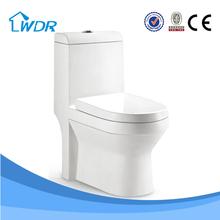 Chaozhou manufacturer washdown flushing/ Siphonic method one piece toilets W9008A
