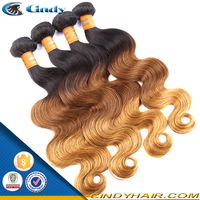 lady star human hair extension body weave color 613/27