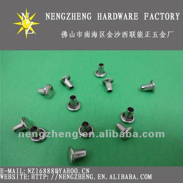 Hueco con remaches de hierro blanco plateado remache tubular for Remaches de hierro
