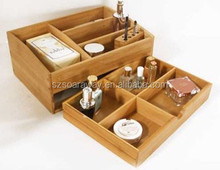 Hot sale bamboo storage tray home organization stores