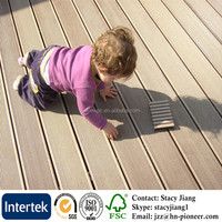 Waterproof Wood Plastic Composite Decking Anti UV WPC Flooring High Quality WPC