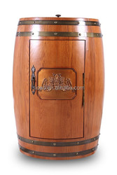electric oak wood furniture 18 bottle wine cooler