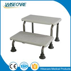 Bathroom safety! Aluminum portable plastic step stool