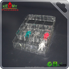 Cheap packaging tray for toys, PET blister packing tray for toy display,custom design eco-friendly toy packaging tray