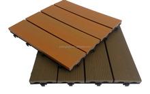 Outdoor WPC interlocking plastic floor tiles