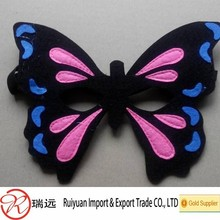 Beautiful felt butterfly mask,party mask with black elastic band for kids toy