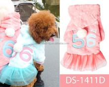 Sweet factory New design hot sale cheap clothes brand dog robe cute cat clothes