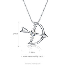 The arrow of Cupid silver necklace , The best gift for love