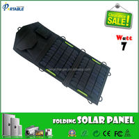 7W 5v camo monocrystalline portable solar panel charging for phone