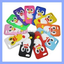 For Apple iPhone 5 5S Case Cool Cute Penguin Soft Silicone Protective Case Cover