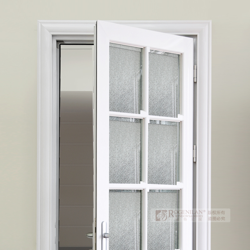 Rogenilan Aluminum Frame Soundproof Frosted Glass Interior Flush Door Design With Glass Buy